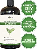 Glycerin - 100% Pure Vegetable Glycerin, USP Certified, Perfect Soap Base for DIYs, Bubble Bath, Natural Hair and Face Moisturizer for Dry Skin, and Glycerin Soap (32 fl oz)
