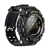 EX16S Rugged Outdoor Sports Smart Watch with Bluetooth Activity Tracker Pedometer Steps Caloires DistanceStopwatch 50M Waterproof for Running Walking Hiking, Long standby time Compare with iOS&Android