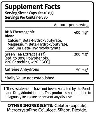 Burn on Keto - Keto Pills with BHB Beta Hydroxybutyrate Exogenous Ketones and Green Tea Extract 8