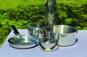 Texsport-6-piece-Stainless-Steel-Copper-Bottom-Outdoor-Camping-Cookware-Cook-Set-with-Storage-Bag