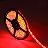 XINKAITE led strip lights Waterproof 16.4ft Led tape Lights 300leds Flexible LED string Light for Boats, Bathroom, and Outdoor Use, Red