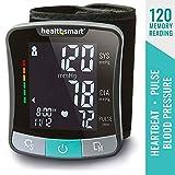 Blood Pressure Monitor Wrist Cuff - Digital Portable Blood Pressure Gauge Monitors for Pulse, Irregular Heartbeat, and High & Low Blood Pressure