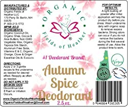 Organic Fields of Heather Autumn Spice Organic & Natural Deodorant With Botanically Infused Ingredients, 2.5 fl. Oz  Image 1