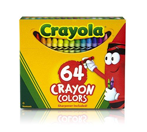 CRAYOLA Crayon/Sharpener, 64 Count (52-0064)