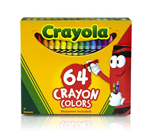 CRAYOLA Crayon/Sharpener, 64 Count (52-0064)