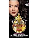 Garnier Olia Ammonia Free Permanent Hair Color, 100 Percent Gray Coverage (Packaging May Vary), 3.0 Darkest Brown Hair Dye, 1 Kit