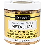 Decoart DECADMTL-36.4 Ameri Deco Mtlc 8oz 24K Gold Americana Decor Metallics 8oz 24K Gold
