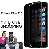 [2018 New Ver.] for iPhone 6 Plus/ 6s Plus, Marval.P Privacy Tempered Glass Screen Protector, 9H Plus Hardness with 2.5D Curve Edge, Clear & Block Snapping, Anti Spy, Case Friendly, Easy Install