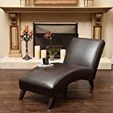 Product review for Cleveland Brown Leather Curved Chaise Lounge Chair