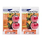 Terro T2502-2 Fruit Fly 4 Total Traps, 2 Pack, Red