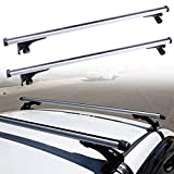 ROADFAR 48' Adjustable Roof Rack Aluminum Top Rail Carries Luggage Carrier Fit for 2006-2017 Ford Focus/Fusion/Mustang Honda Civic Hyundai Elantra Baggage Rail Crossbars