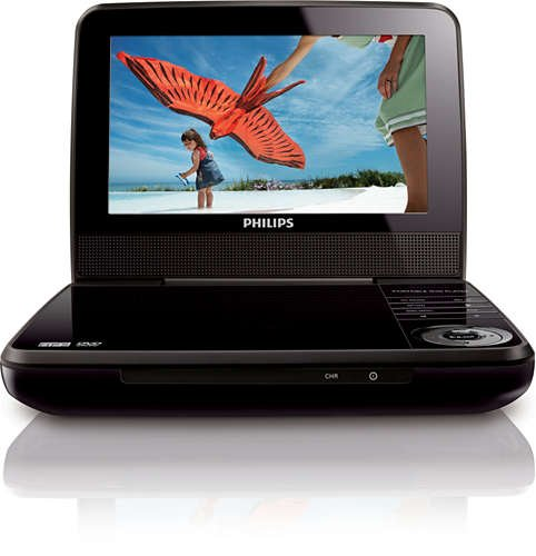 Philips 7' Portable DVD Player PET741B (Certified Refurbished)