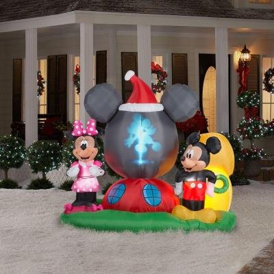 Mickey mouse christmas inflatable yard decorations for Decoration noel mickey
