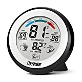 dxrise Digital Hygrometer, Humidity Gauge, Indoor Thermometer, Temperature and Room Humidity Monitor Moisture Meter with Accurate Monitor Clear Reading, Min/Max Records, C/F switch