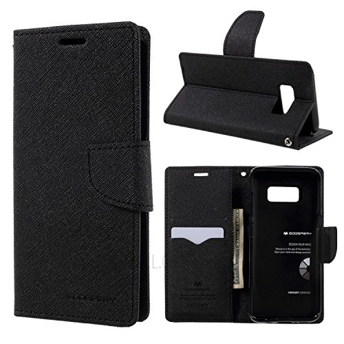 Lize Stylish Mercury Flip Cover for Samsung A8 2016_Black 115