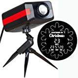 Gemmy 11955 Christmas Countdown To Christmas Snowflake Light Show Projector