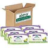 Aleva Naturals Bamboo Baby Wipes   Perfect for Sensitive Skin   Extra Strong and Ultra Soft   Natural and Organic Ingredients   Certified Vegan   6 Packs of 80ct - Total of 480ct