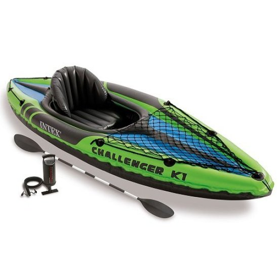Intex Challenger K1 Kayak, 1 Person Inflatable Kayak