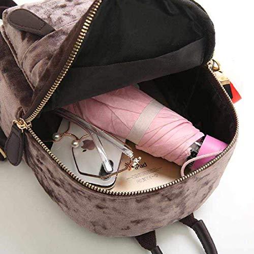 51CpTlZE5iL - MOCA Cute Mini Small Women Backpacks Womens Kids Girls Soft Velvet Stylish Trendy Travel Outdoor College Bags Small Mini Rucksack Backpack Back Bag Pack bagpack for Womens Girls