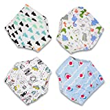 MooMoo Baby CottonTraining Pants 4 Pack Padded Toddler Potty Training Underwear for Boys-4T