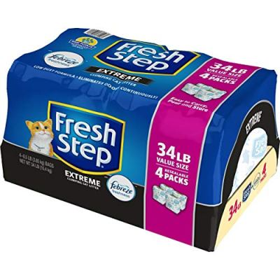 Fresh Step with The Power of Febreze, Clumping Cat Litter, 34...