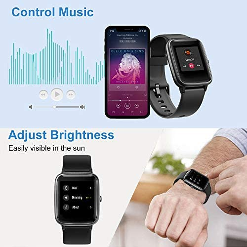 Willful Smart Watch for Android Phones and iOS Phones Compatible iPhone Samsung, IP68 Swimming Waterproof Smartwatch Fitness Tracker Fitness Watch Heart Rate Monitor Smart Watches for Men Women Black 10