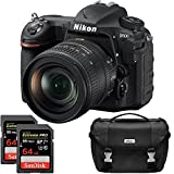 Nikon D500 20.9 MP CMOS DX Format Digital SLR Camera with 16-80mm VR Lens Kit, Dual Lexar 64GB 1000x SDXC Memory Card and Bag