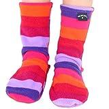Polar Feet Kids' Non-slip Fleece Socks (XL (Kids' 1-3), Jellybean)