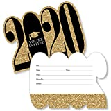 Big Dot of Happiness Gold - Tassel Worth The Hassle - 2020 Shaped Fill-In Invitations - Graduation Party Invitation Cards with Envelopes - Set of 12