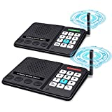 Intercoms Wireless for Home - GLCON Long Range 1.2 Mile Wireless Intercom 10 Channel x 3 Code - Intercom System for House Business Office - Room to Room Security Intercom for Elderly Baby (Black x 2)