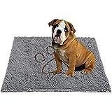 PUPTECK Super Absorbent Dirty Dog Doormat - Non Skid Microfiber Pet Door Runner Mat Grey L