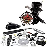 Zeda 80 Complete 80cc Bicycle Engine Kit - Firestorm Edition (Black (+$10.00),44 Tooth)