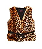 Foxfire for Kids Lilly Patricia Brown Leopard Faux Fur Vest
