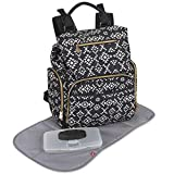 Fisher Price Drawstring Backpack Baby Bag with Insulated Bottle Pocket, Stroller Clips, and Wipe Storage Pocket
