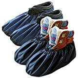 DearyHome Washable Reusable Waterproof Shoe Covers Premium Non Slip Boot Covers for Household Contractors, X-Large, 2 Pairs