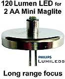 Mini Maglite AA Philips Lumileds LED Upgrade Bulb, Flashlight Conversion, 1 Watt UpLED