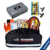Kolo Sports Premium Auto Emergency Kit 156-Piece Multipurpose Emergency Pack - Great for Automotive Roadside Assistance & First Aid Set - The Ultimate All-in-One Solution