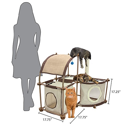 kitty city steel claw mega kit cat furniture cat condo. Black Bedroom Furniture Sets. Home Design Ideas
