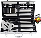 ROMANTICIST 21pc Complete Grill Accessories Kit with Cooler Bag - The Very Best Grill Gift for Everyone on Christmas - Professional BBQ Accessories Set with Case for Outdoor Camping Grilling Smoking
