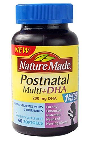 Nature Made Postnatal Multi+DHA -- 200 mg - 60 Softgels
