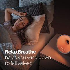Philips-SmartSleep-Sleep-and-Wake-Up-Light-Simulated-Sunrise-and-Sunset-Multiple-Lights-and-Sounds-RelaxBreathe-to-Sleep-HF365060