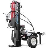 Titan Towable Power Hydraulic 2 Way Log Wood Splitter 37 Ton Pull Electric Start