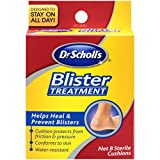 Dr. Scholl's Blister Treatment, Sterile Cushions, 8 Count box(Packaging May vary)