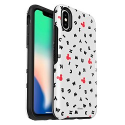 OtterBox SYMMETRY SERIES Disney Classics Case for iPhone X (ONLY) - Retail Packaging - MICKEY SCRAMBLE (WHITE/BLACK/MICKEY LETTER)