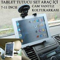 MARKACASE Tablet Araç Tutucu Ve Koltukarkası Set 7-11 Inch 14