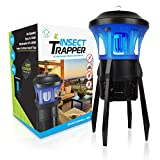 Livin' Well No Zap Mosquito Trap - 3 in 1 Indoor/Outdoor UVA Light Mosquito Trap + Fly Trap Fruit Fly Trap w/Vacuum Fan a 100% Family Safe Bug Trap