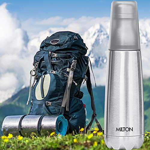 51DEKAJhe7L - Milton Vertex -750 Thermosteel  Water Bottle with Unbreakable Tumbler, 750 ml, Silver