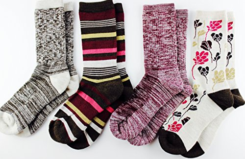 Kirkland Signature Ladies Merino Wool Extra-Fine Trail Socks, 4 Pairs