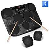 PylePro Portable Drums, Tabletop Drum Set, 7 Pad Digital Drum Kit, Touch Sensitivity, Wireless...