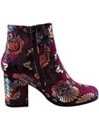 Rannel 07 Women's Floral Embroidered Ankle Bootie